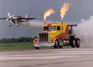 The Shockwave triple engine jet truck