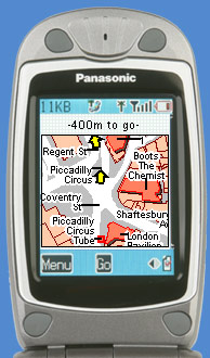 MapWay map on your cellphone