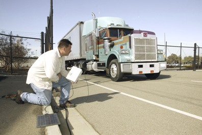 The remote truck stopping technology at work